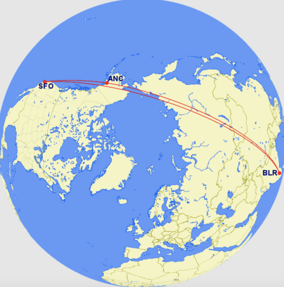 BLR-SFO route analysis