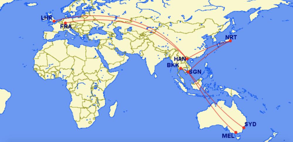 Vietnam International Routes