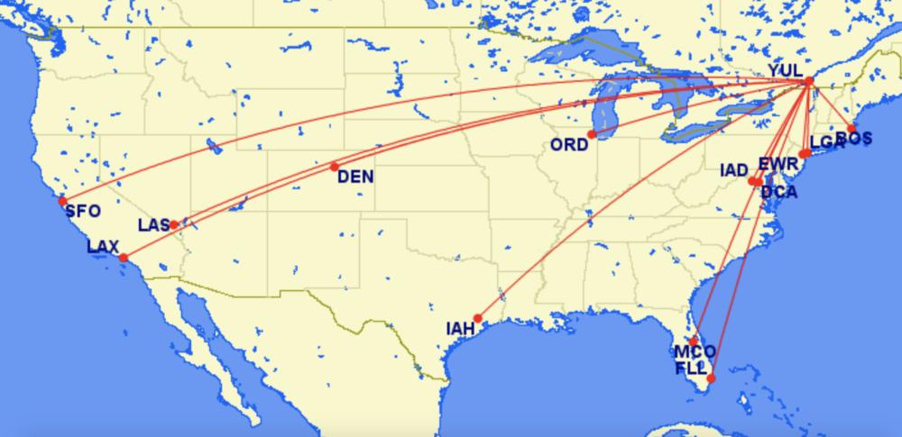 Air Canada YUL Network