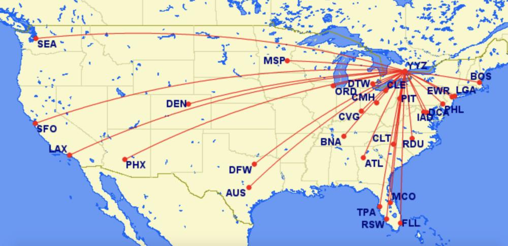 Air Canada Toronto Transborder