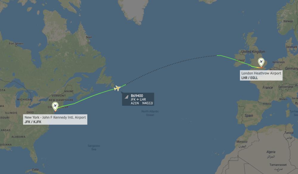 JetBlue Arrives In London On Test Flight Ahead Of Route Launch