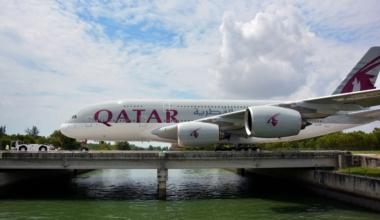 Qatar Airways, Airbus A380, Return
