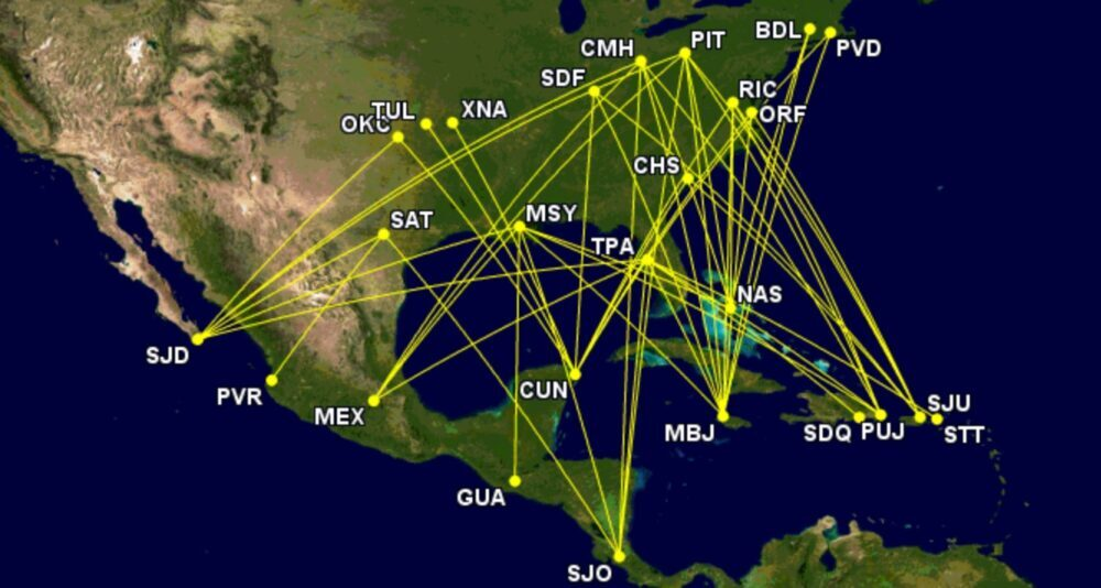 Top unserved international routes to Mexico, Caribbean, Central America from Breeze's current 16 airports