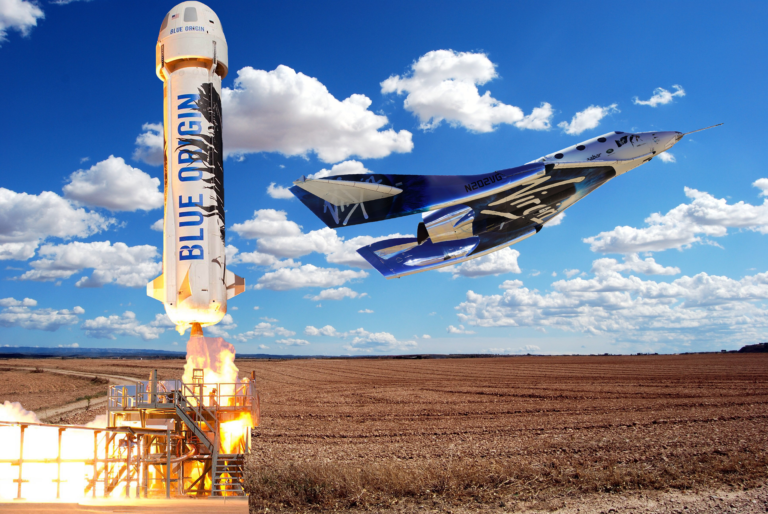 the race to space galactic vs blue origin