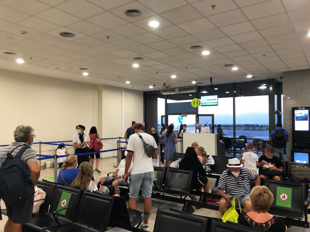 Rhodes Airport boarding