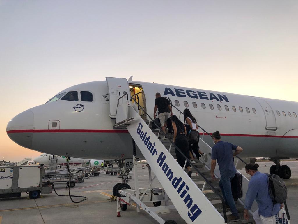 Aegean Airlines boarding