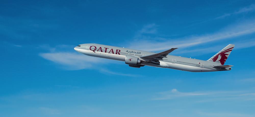 Qatar Airways 777 Jet