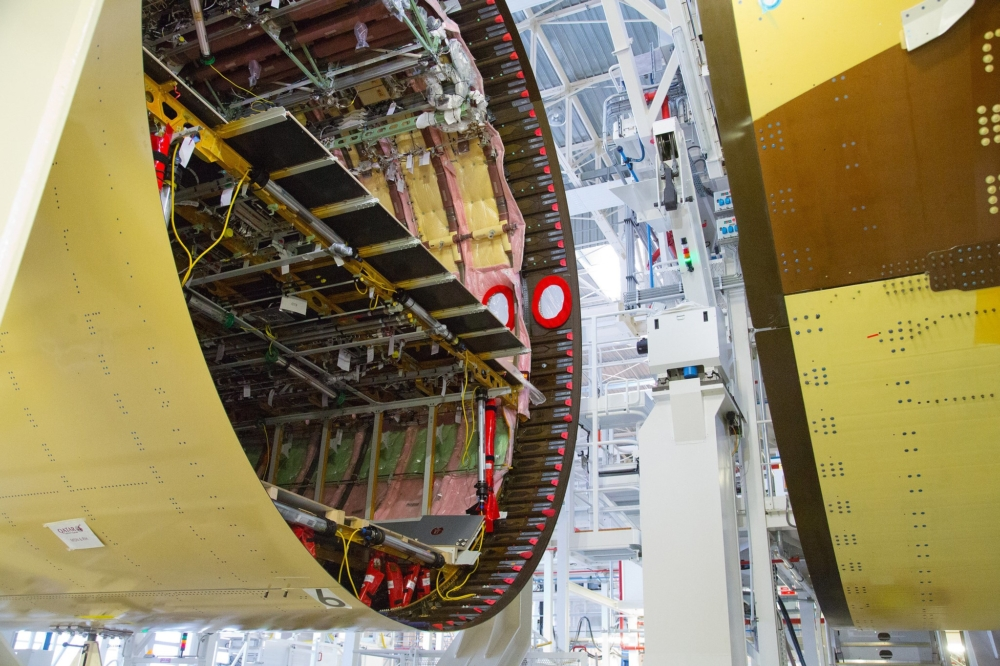 Airbus A350 Fuselage Joining