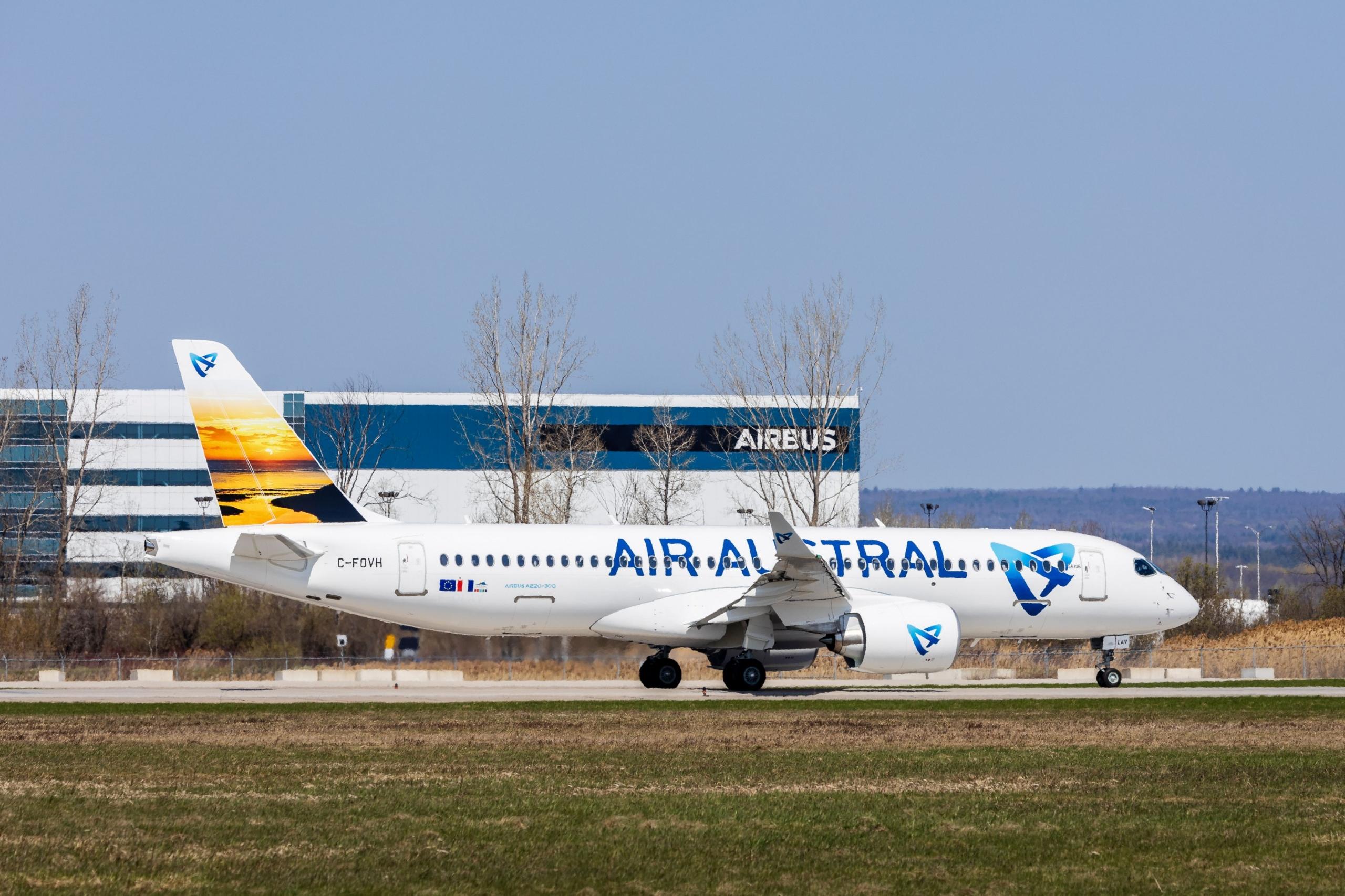 Air Austral, Airbus A220, Toulouse