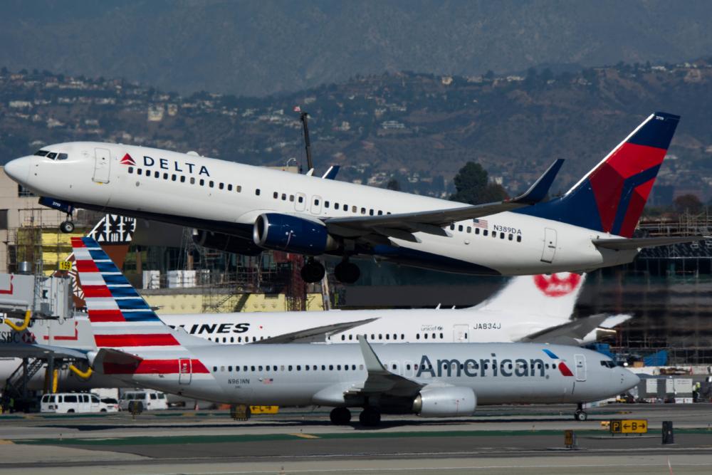 Delta American aircraft