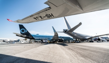 A321neo La Compagnie static display at Paris Airshow 2019 – Day 2