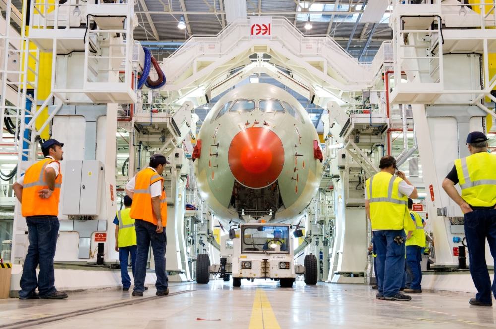 Airbus A350 Assembly Line