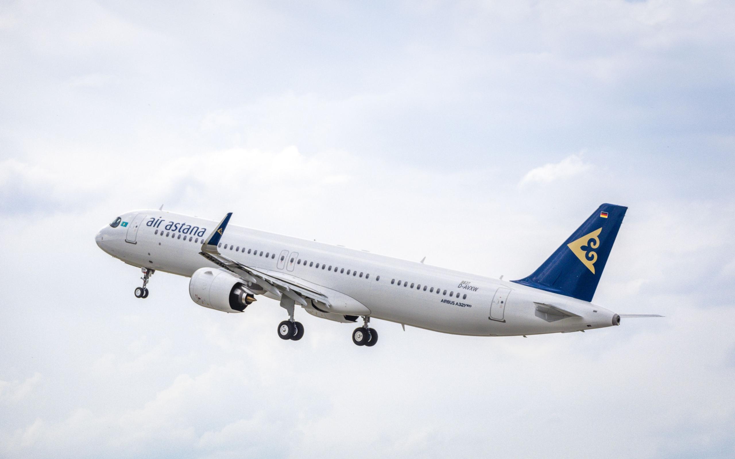 Air Astana, Airbus A321LR, London Heathrow