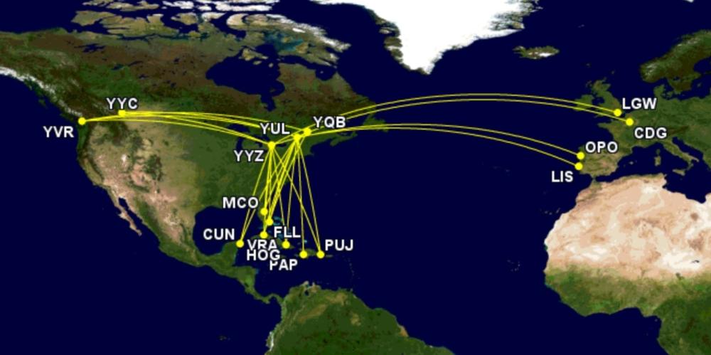 Air Transat's network
