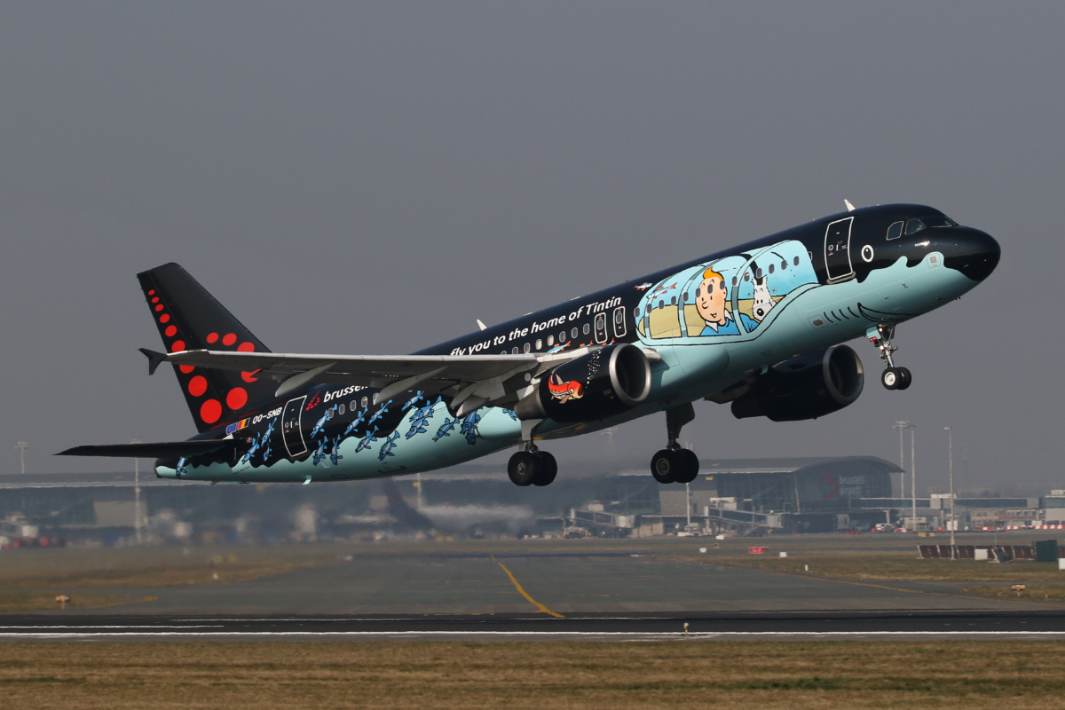 Brussels Airlines Tin Tin livery