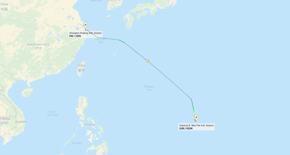 Boeing Guam Flightpath