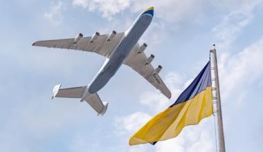 An-225 flypast ukrainian independence