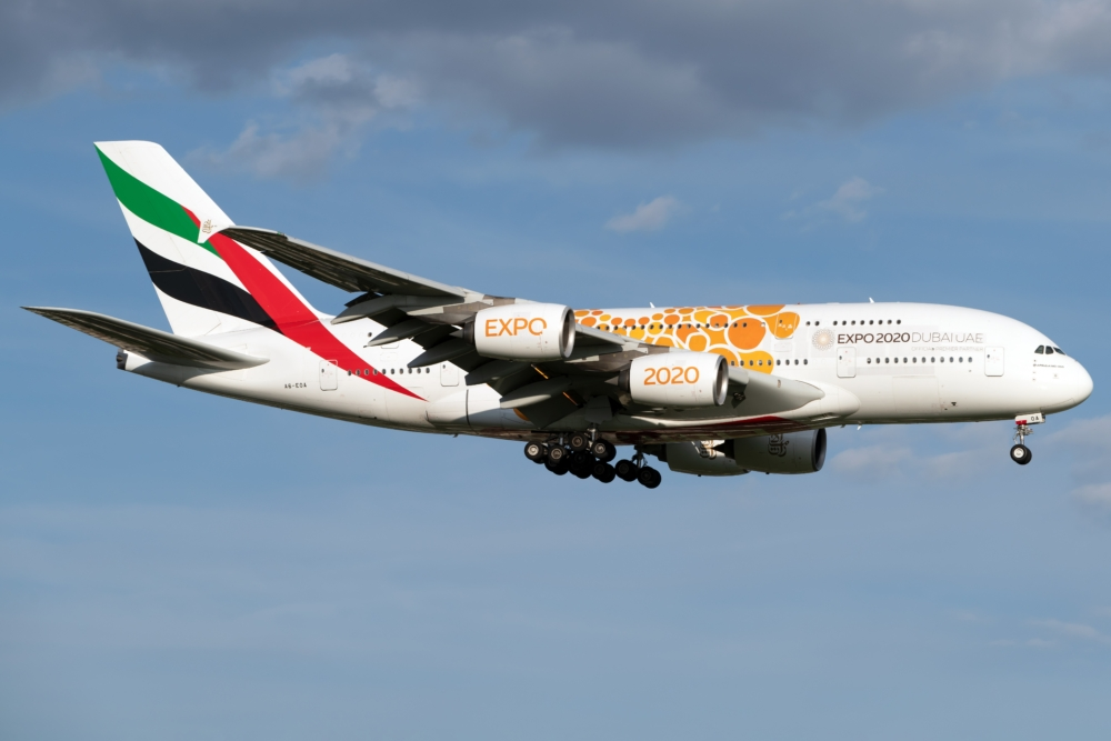 Emirates, Airbus A380, August Schedule