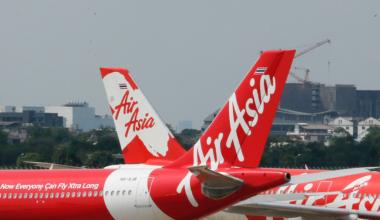 AirAsia aircraft parked at Don Muang International Airport