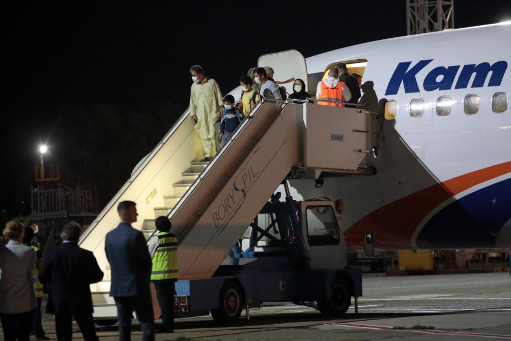 Kam Air Kabul refugees