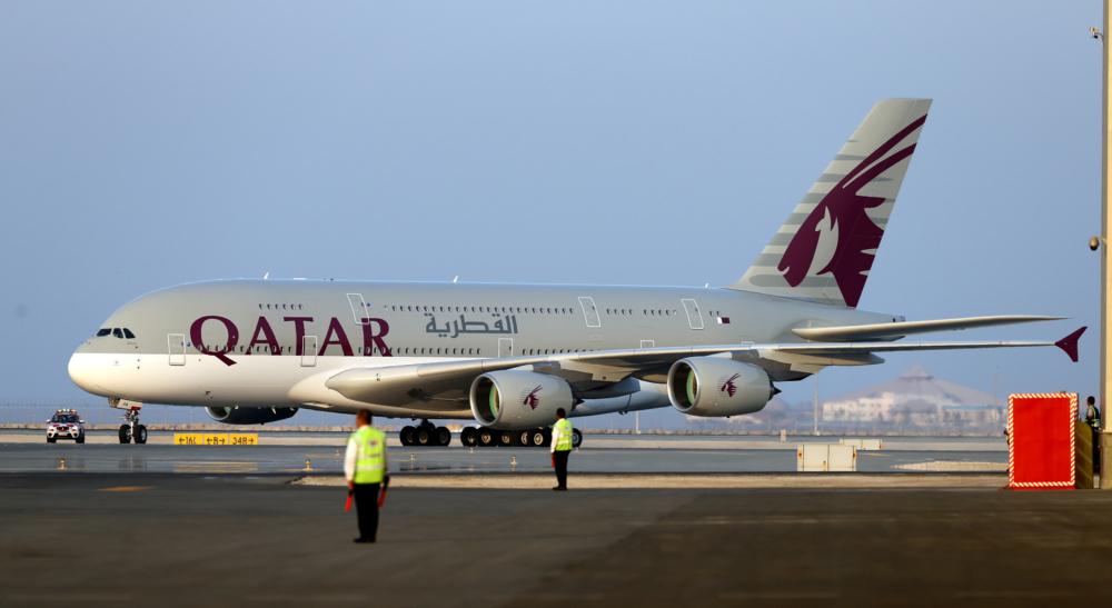 Qatar Airways Airbus A380 Getty