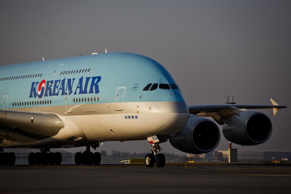 Korean Air Airbus A380 Landed At Vaclav Havel Airport In Prague