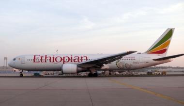 Germany – Hesse – Frankfurt am Main: airplane Boeing B767 of the Ethiopian Airlines