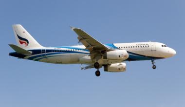 """Bangkok Airways """"boutique airline"""" Airbus 320 landing at"""