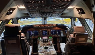 Jake Hardiman Virgin Atlantic Boeing 747 Cockpit London Heathrow