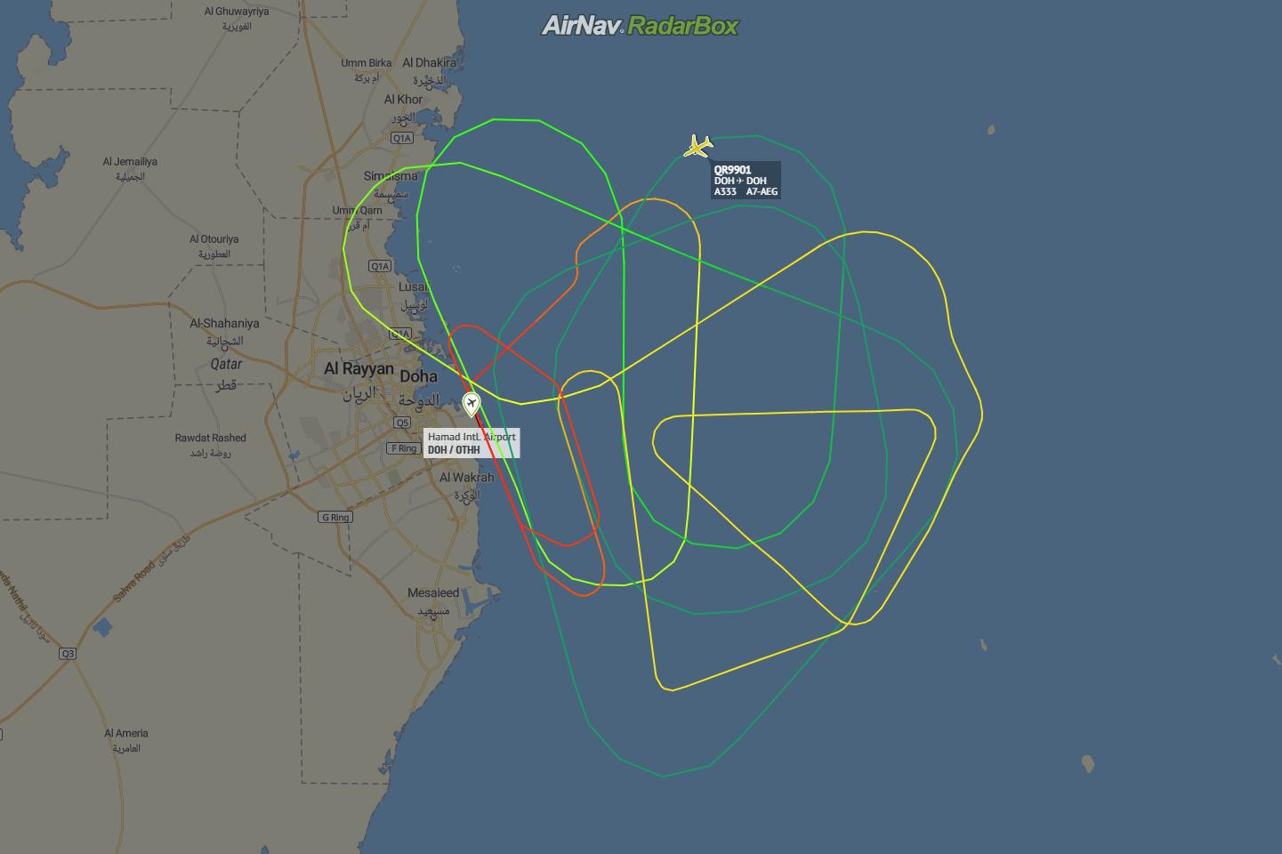 Qatar Airways, Airbus A330, Reactivation