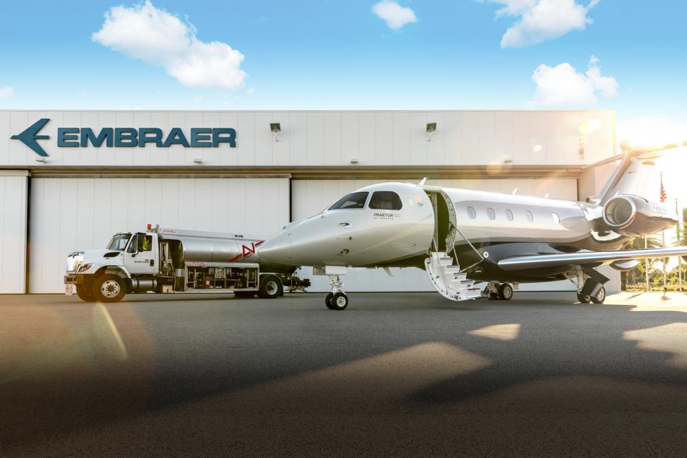 Emrbaer business aviation Neste SAF