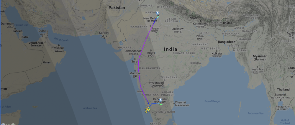 New Air India One Boeing 777 Gets Stuck On Taxiway In Bangalore