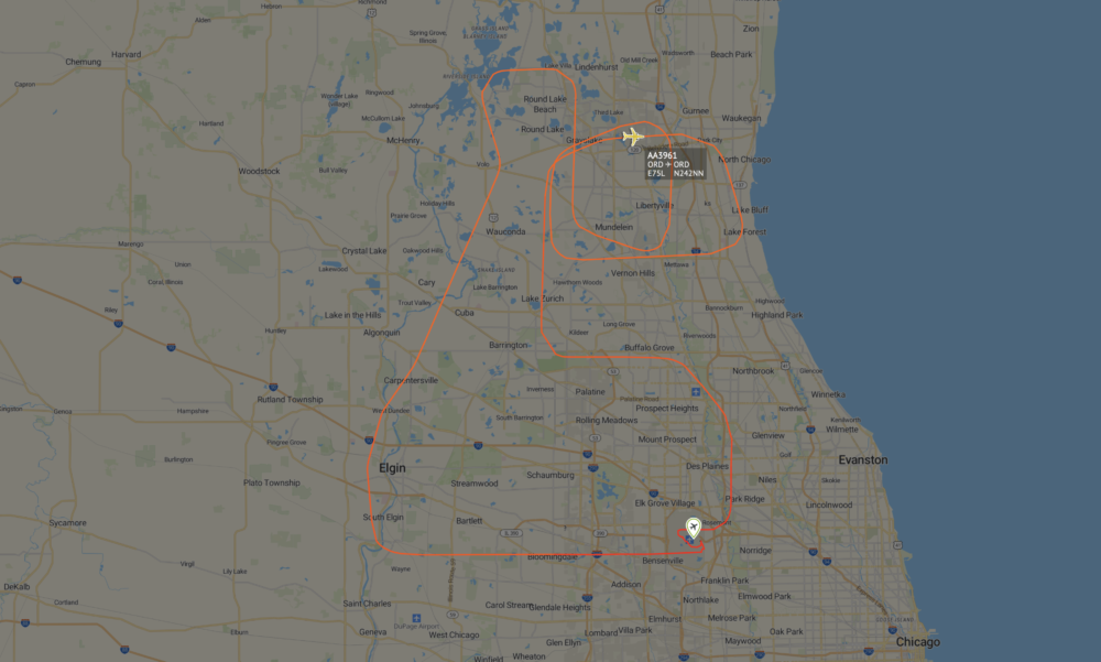 Envoy Embraer E175 Involved In Chicago Area Balloon Strike