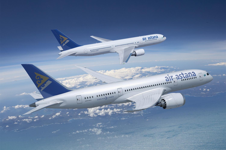 Air Astana, Boeing 767, Boeing 787