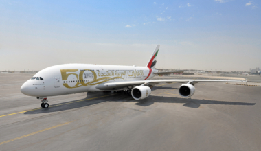 Emirates, Airbus A380, 50 years