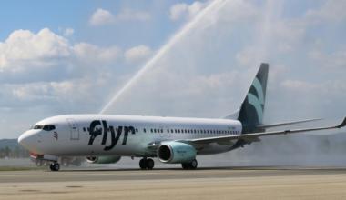 Flyer begins international routes