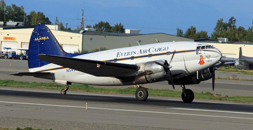 Everts Air Cargo Curtiss C-46