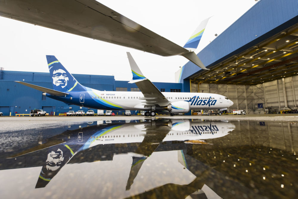 Alaska Airlines Receives First Of 13 Boeing 737 MAX Jets From ALC