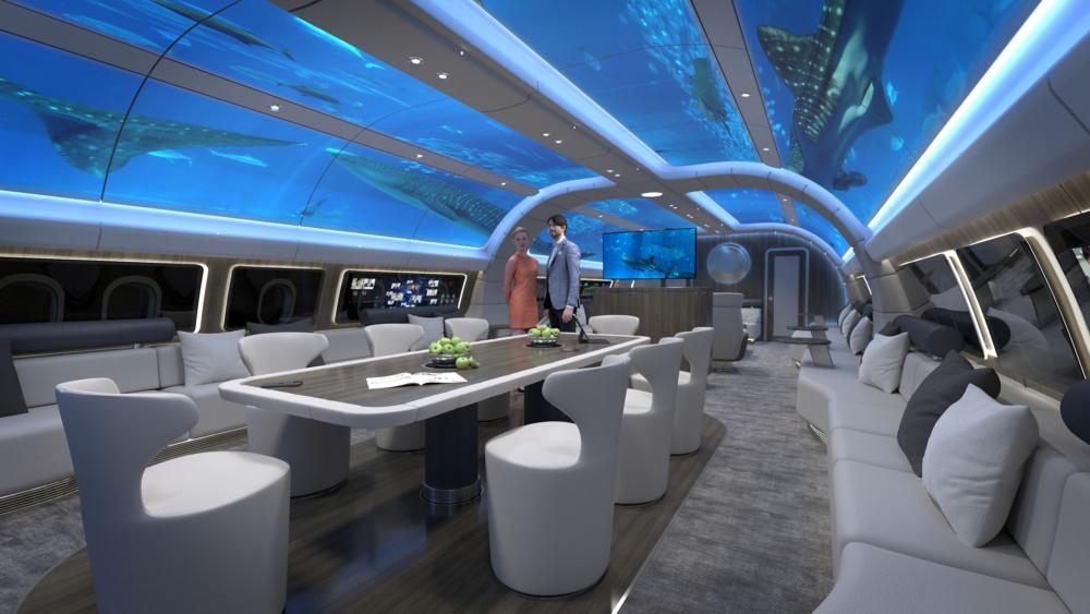 A330 Explorer cabin underwater world