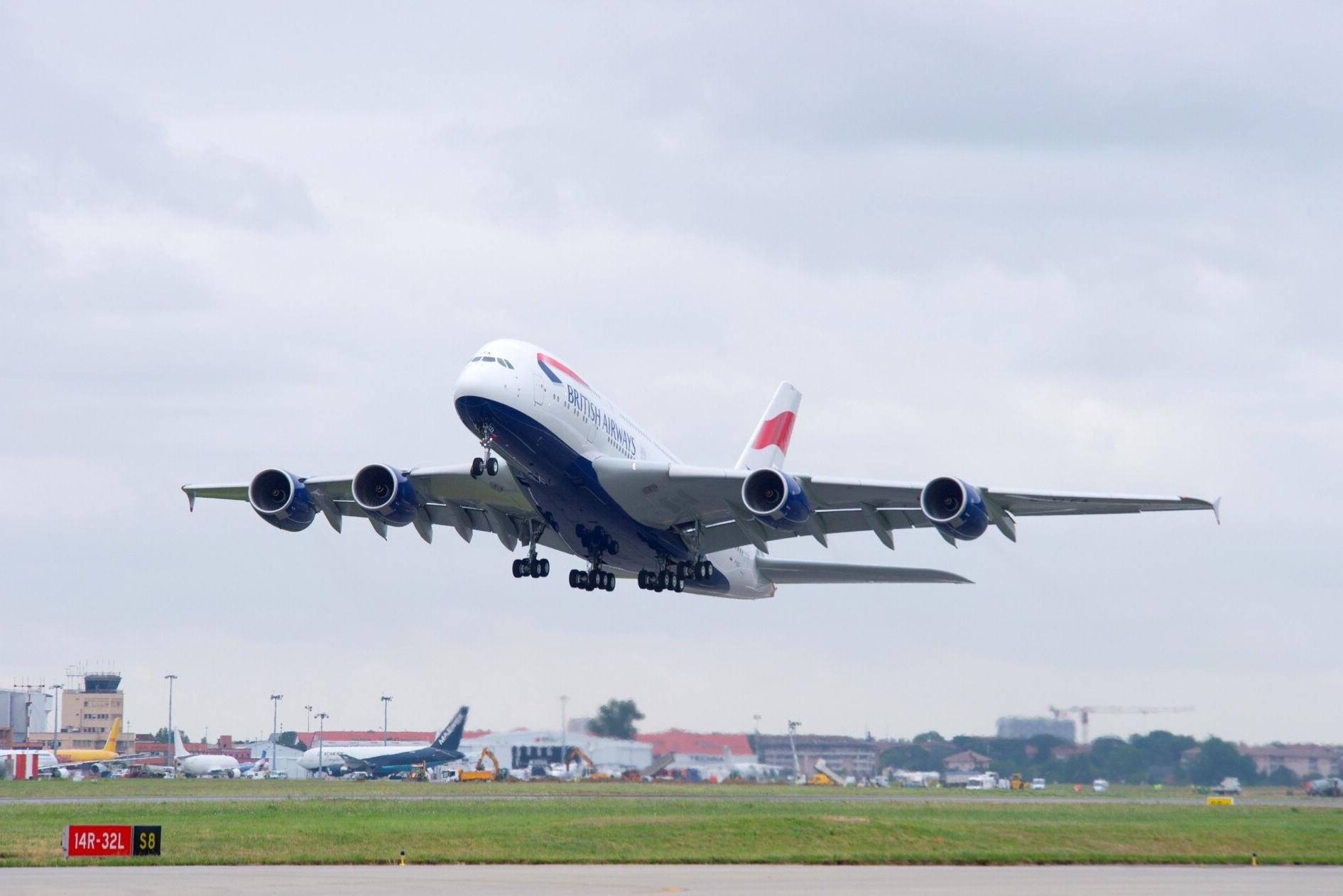 British Airways, Airbus A380, Manila