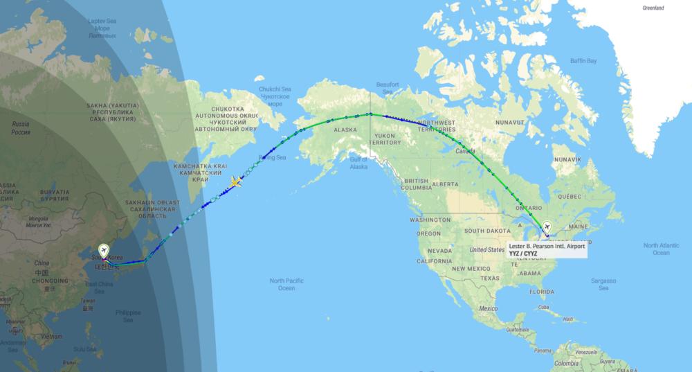 Air Canada Flightpath