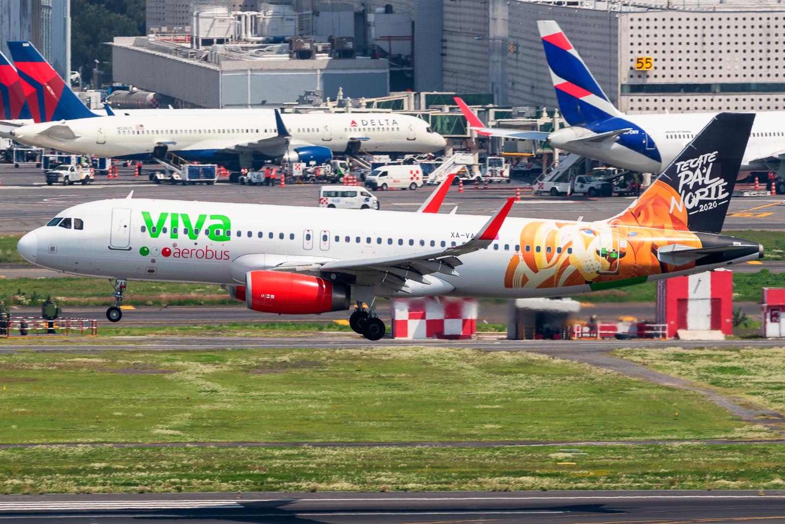 Airbus A320-232 XA-VAX Viva Aerobus MMMX Jul 24 2021 AF 01