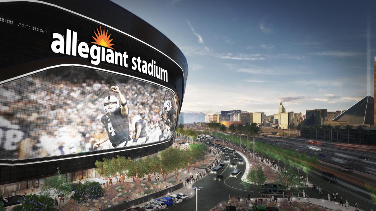 Allegiant Stadium in Las Vegas