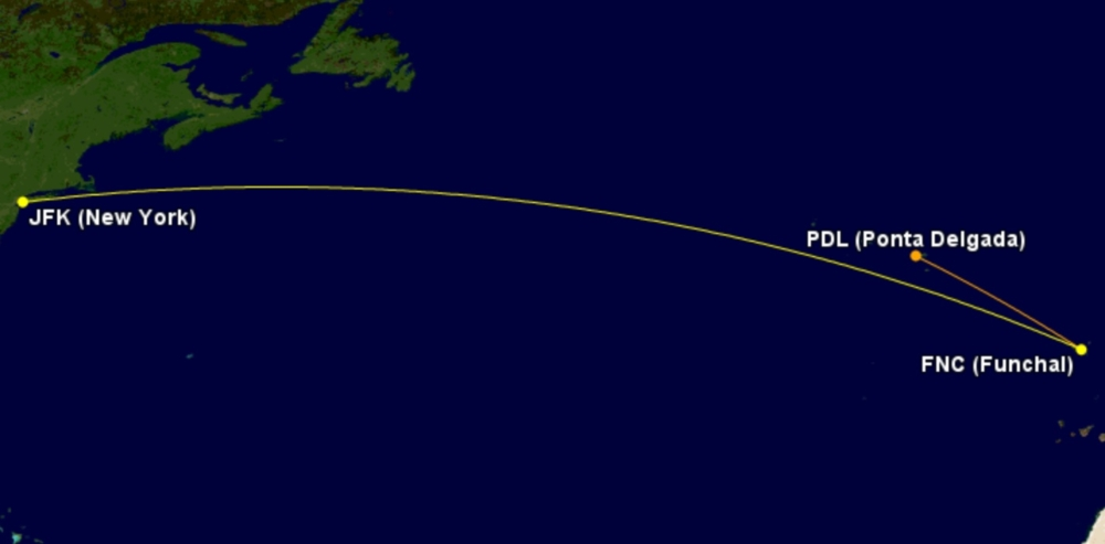 Azores Airlines Funchal to JFK