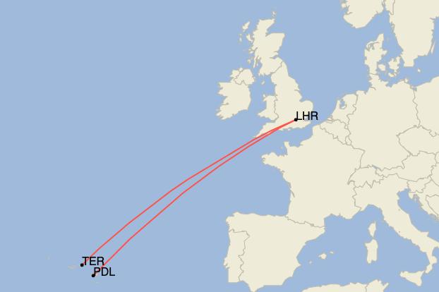 British Airways, Azores Islands, Sustainability