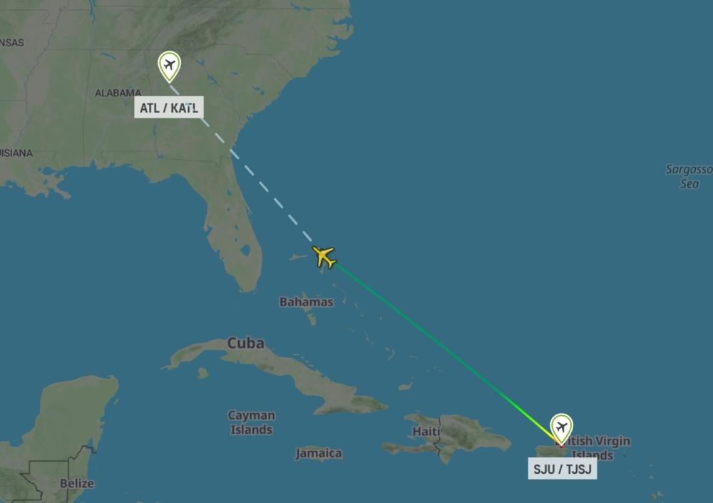 DL1763 San Juan to Atlanta