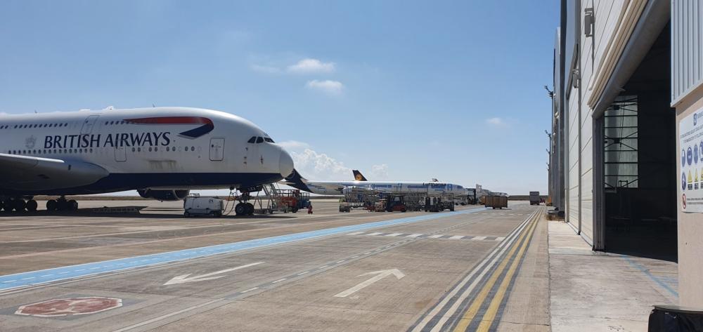 British Airways A380 at Teruel