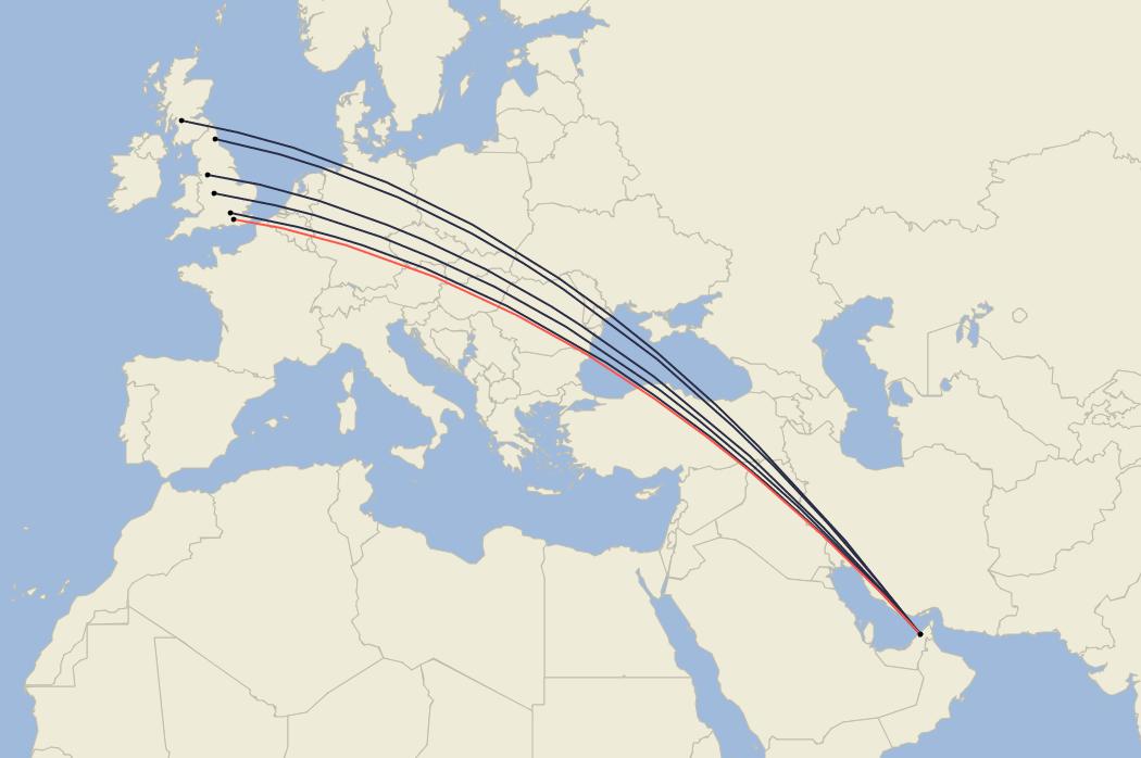 Emirates, London Gatwick, Boeing 777