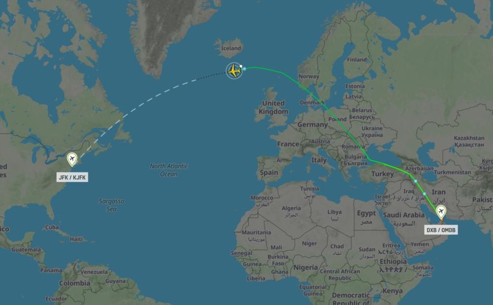 EK201 Dubai to JFK