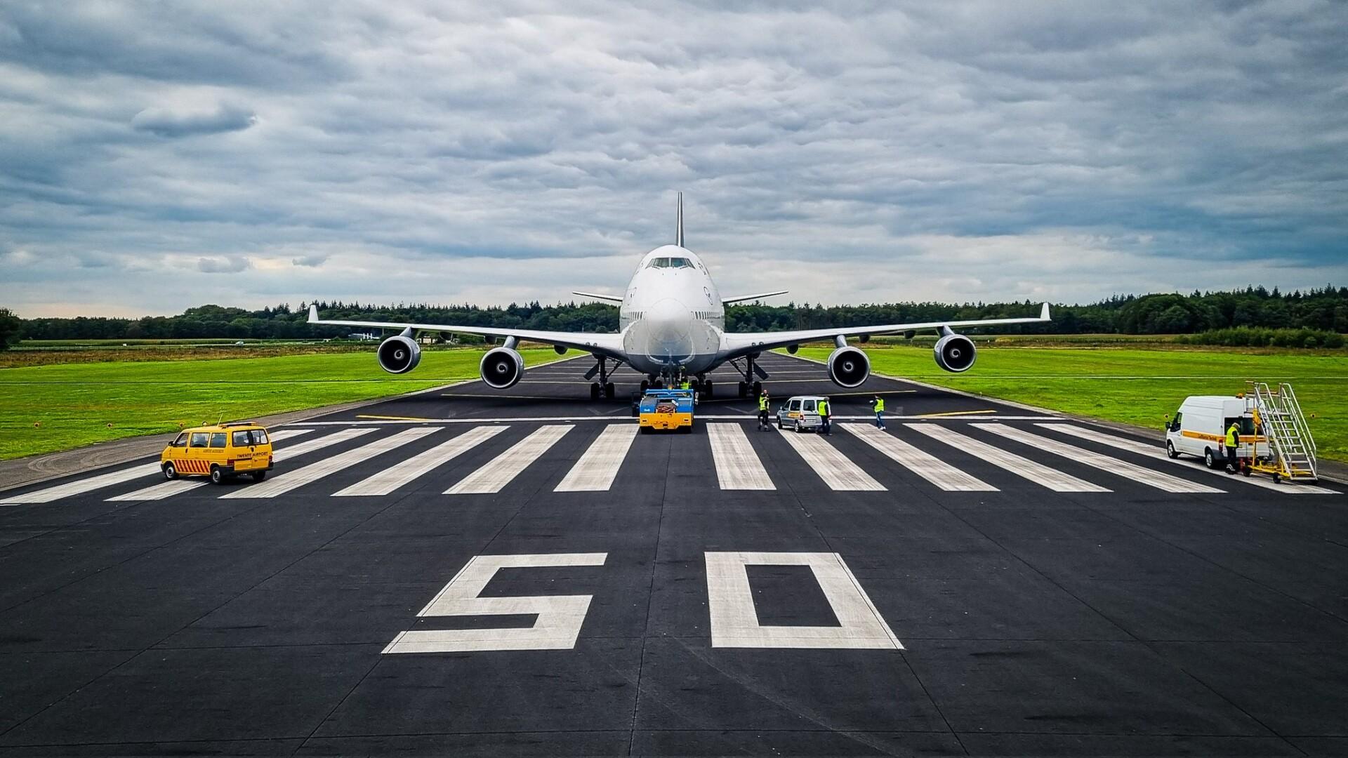 Lufthansa, Boeing 747, Twente Airport